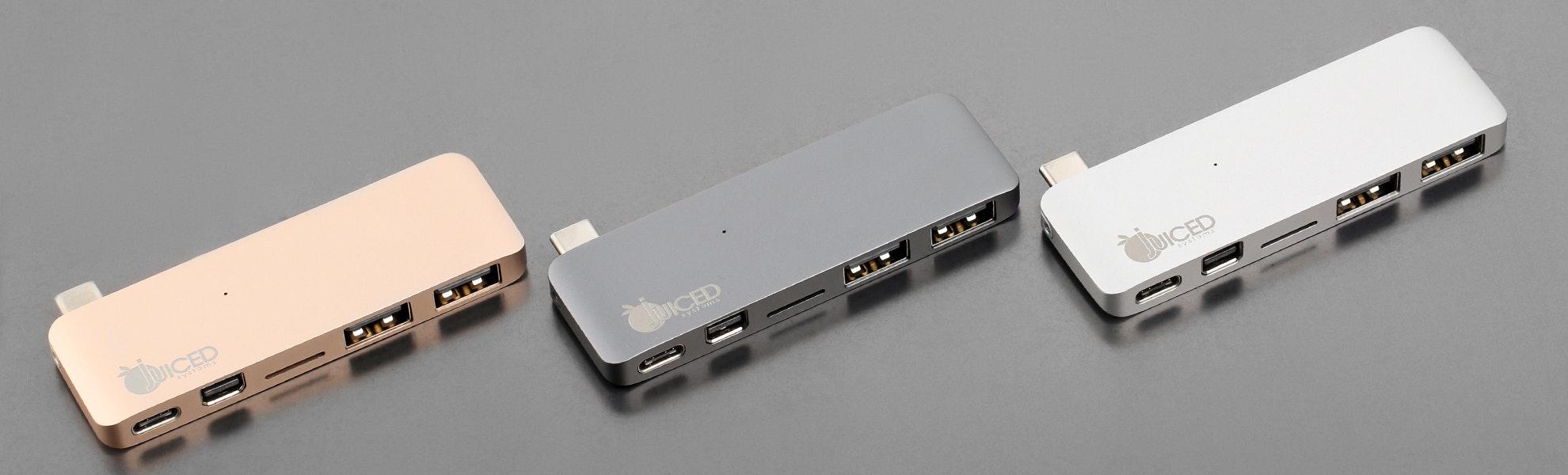 """Juiced USB-C 12"""" Macbook 5-in-1 Display Adapter"""