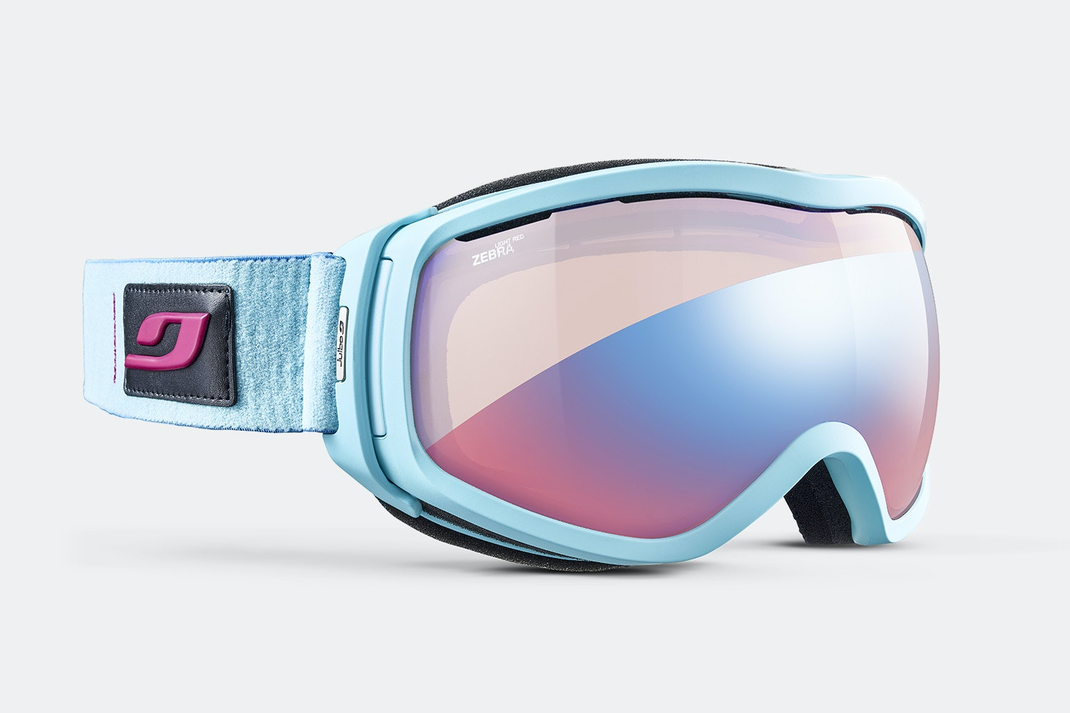 Elara Goggle - Sky Blue - Zebra Light Red