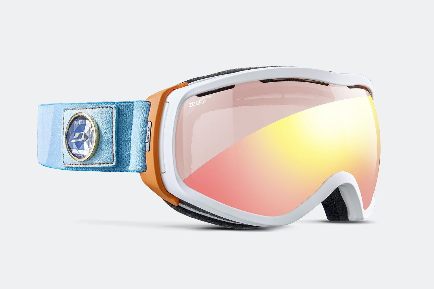 Elara OTG Goggle - White/Orange/Turquoise - Zebra Light Red