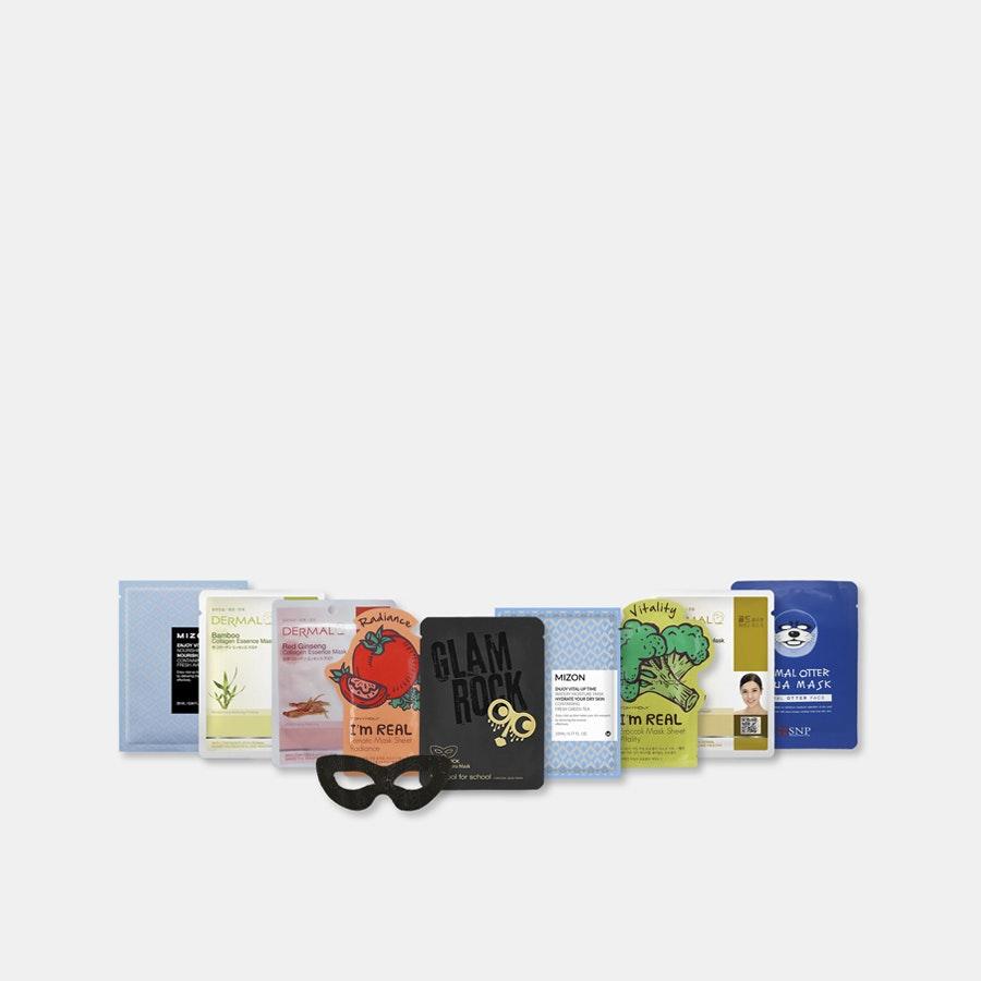 K-Beauty Assorted Mask Set (10 Sheets)