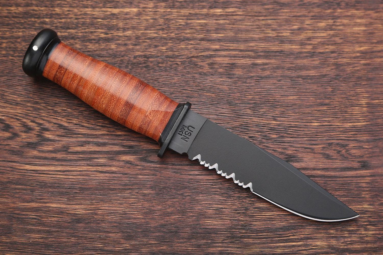 KA-BAR Mark 1 Fixed Blade Knife w/Sheath