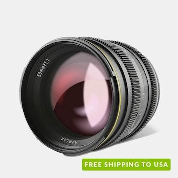Kamlan 50mm F/1.1 APS-C Prime Lens for Mirrorless