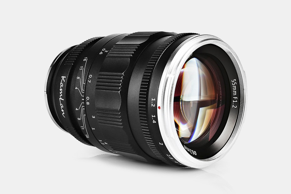 Kamlan 55mm F/1.2 Full-Frame Prime Lens | Price & Reviews | Massdrop