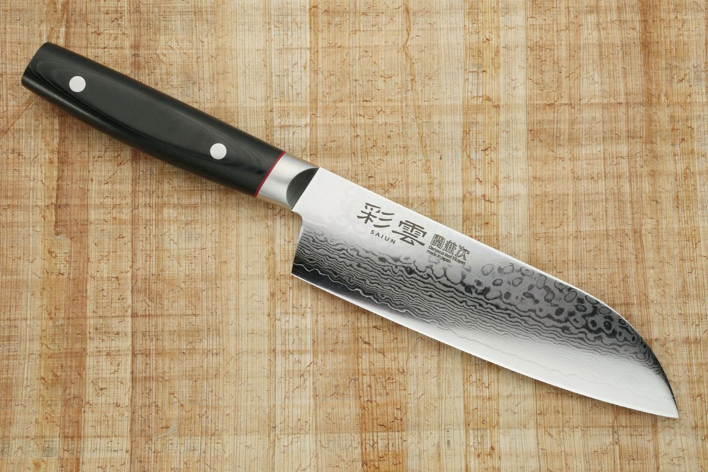 Kanetsugu Saiun VG-10 Damascus Kitchen Knives