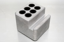 Tumbled Aluminum -  business card storage (holds 6 pens)