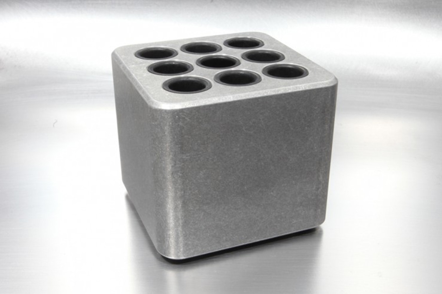 Tumbled Aluminum -pen holder (holds 9 pens)