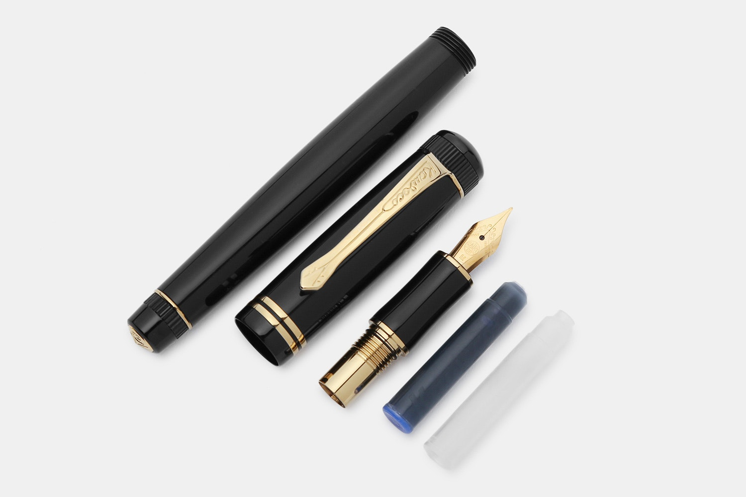 Kaweco Dia2 Black & Gold Fountain Pen