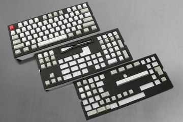 129-Key Top Printed PBTCherry Keycap Set - Gray/White/Red (+ $25)