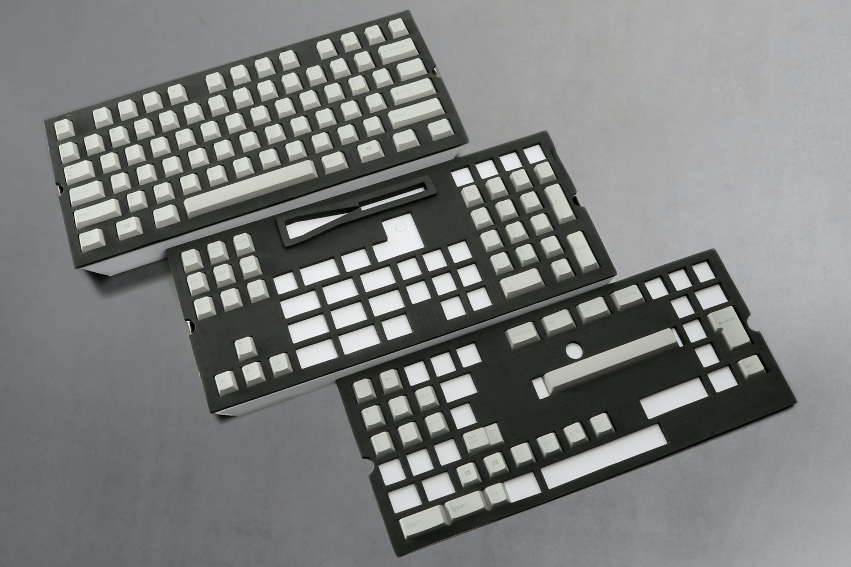 129-Key Top Printed PBT Cherry Keycap Set - Gray (+ $20)