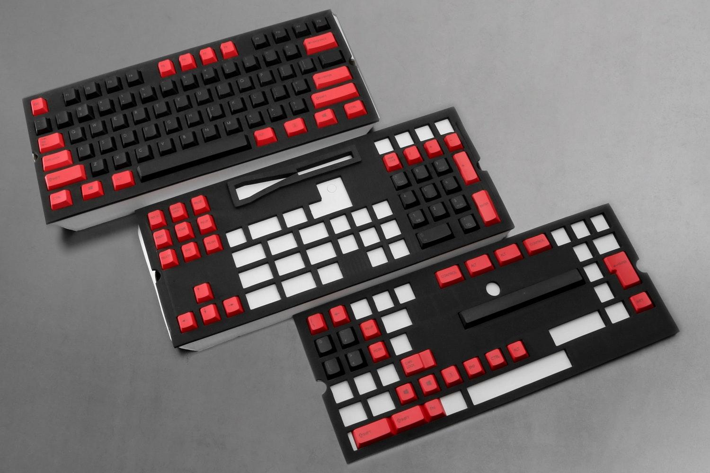 129-Key Top Printed PBTCherry Keycap Set - Red/Black (+ $25)