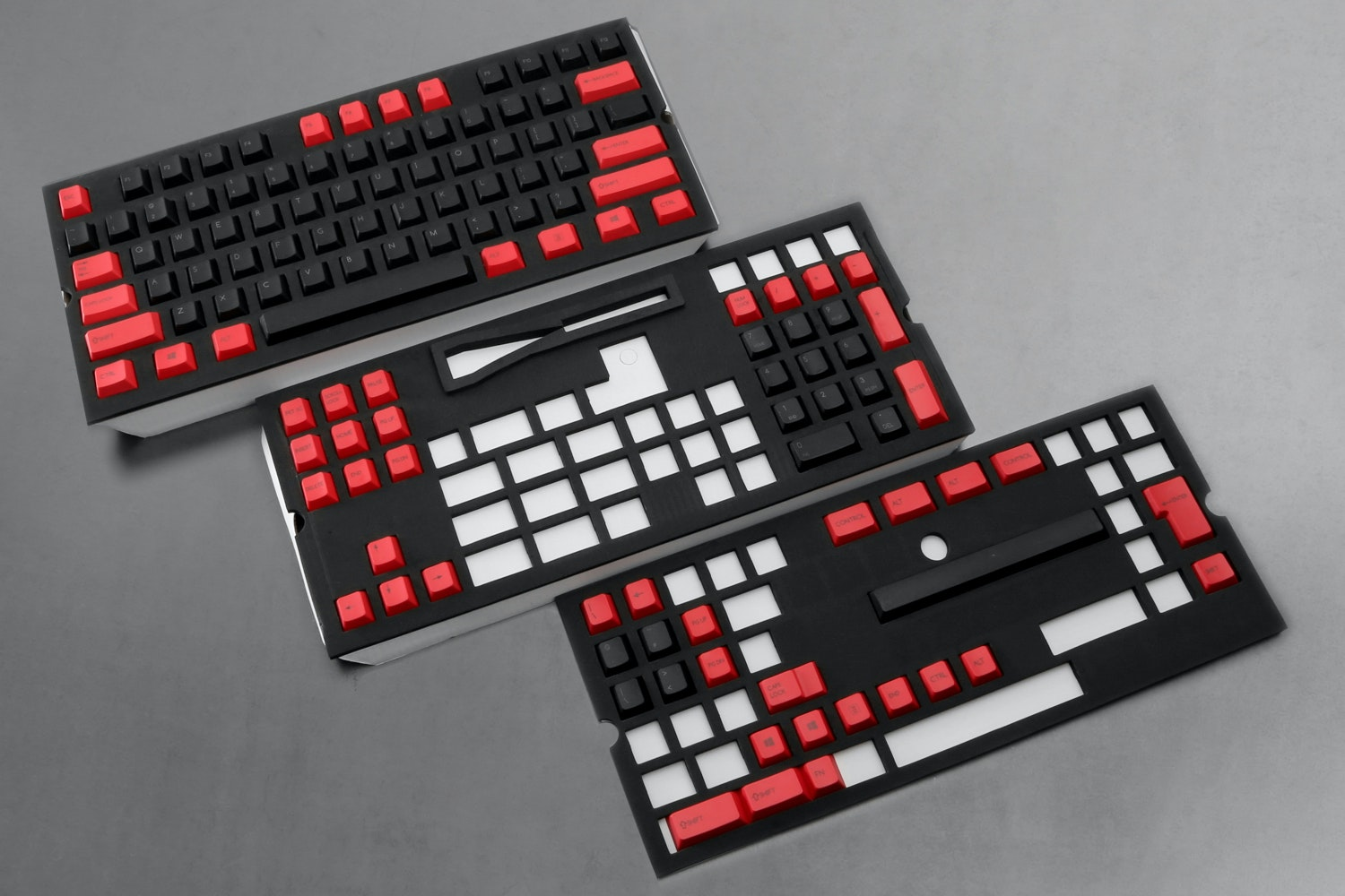 129-Key Top Printed PBTCherry Keycap Set - Red/Black (+ $25)