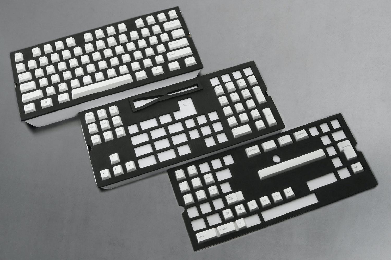 129-Key Top Printed PBTCherry Keycap Set - White (+ $20)