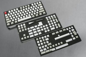 NPKC129-Key PBT Cherry Keycap Set - Gray/White/Red