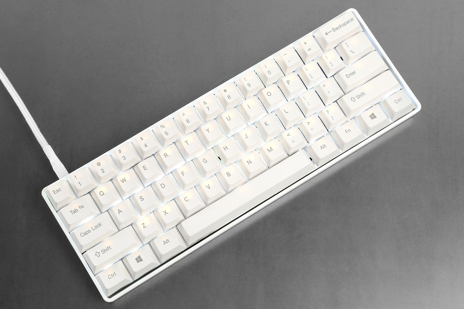 PBT White Top Printed - Cherry Profile