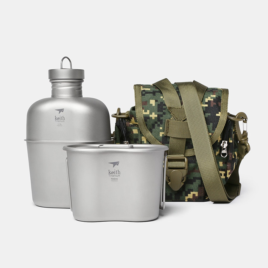 Keith Ti3060 Titanium Canteen Mess Kit