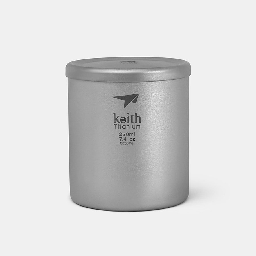 Keith Titanium Double-Wall Mugs