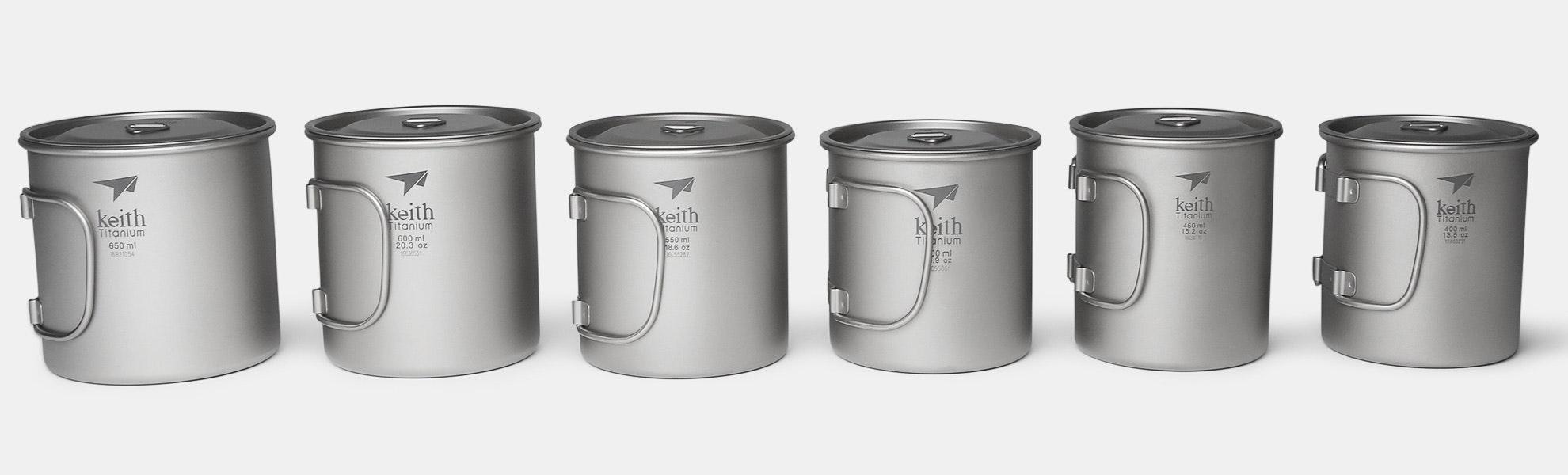 Keith Titanium Single-Wall Mugs