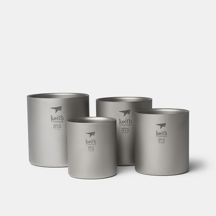 Keith Titanium Ti3501 Nesting 4-Piece Mug Set