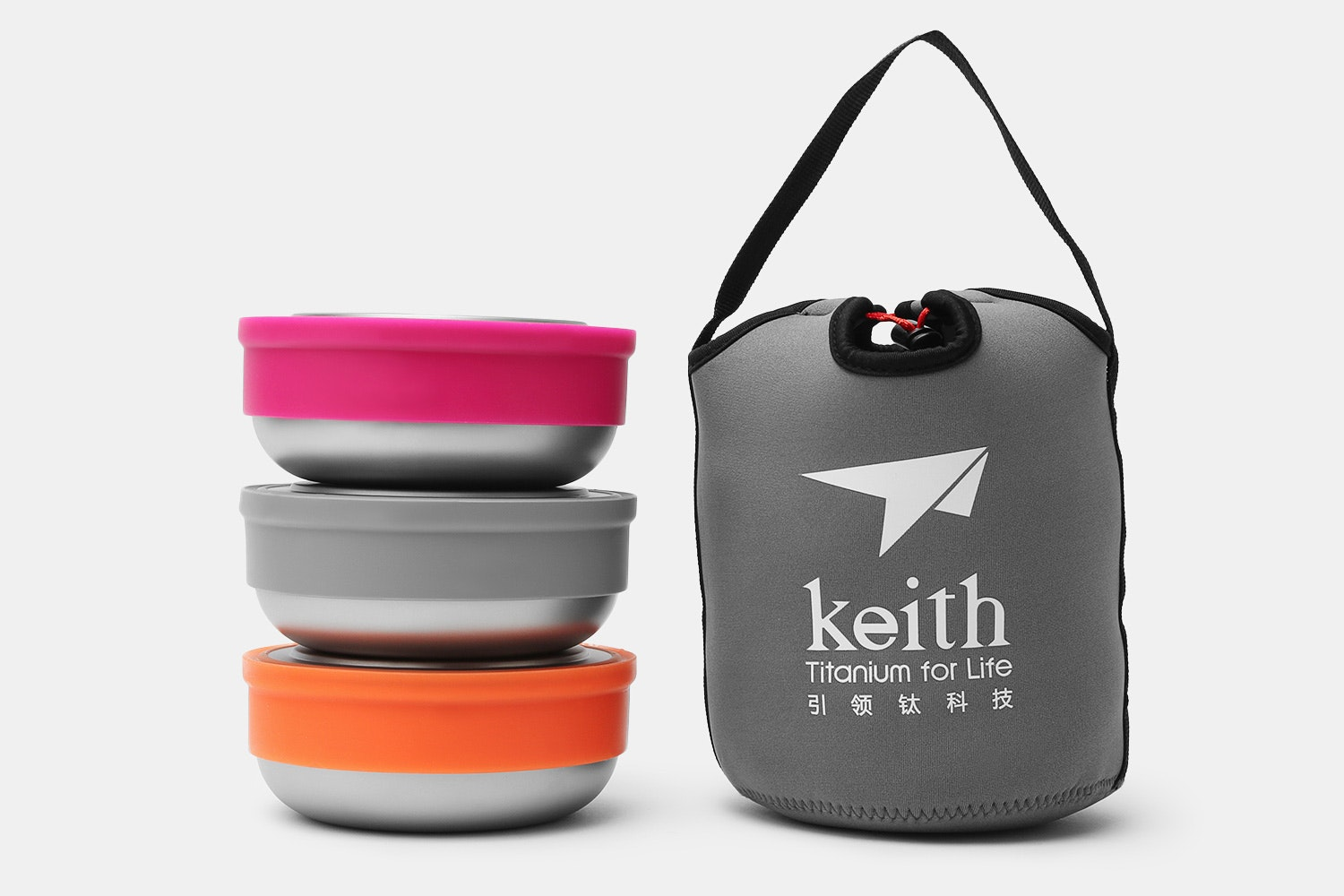 Keith Titanium Ti5378 Fresher Bowl Silicone Set