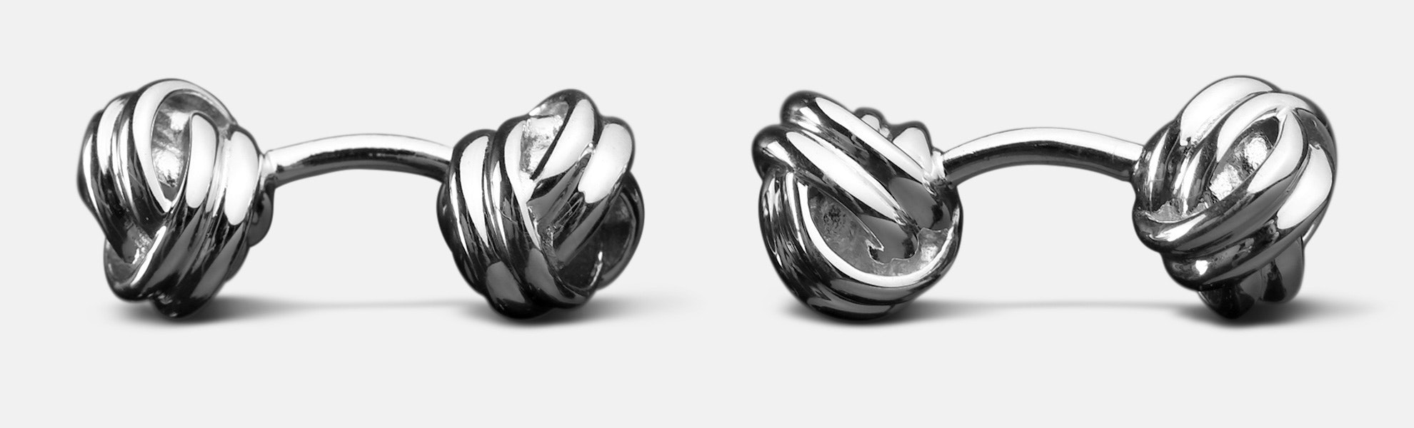 Kent Wang Sterling Silver Cuff Links