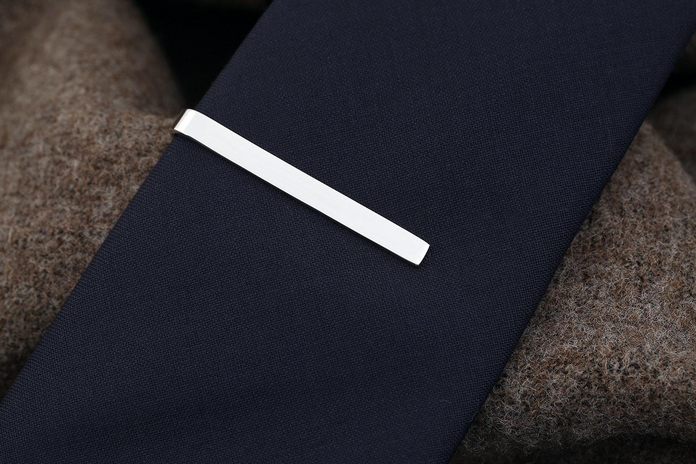Kent Wang Sterling Silver Tie Clip