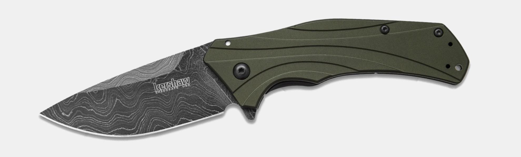Kershaw Knockout Damascus A/O Knife