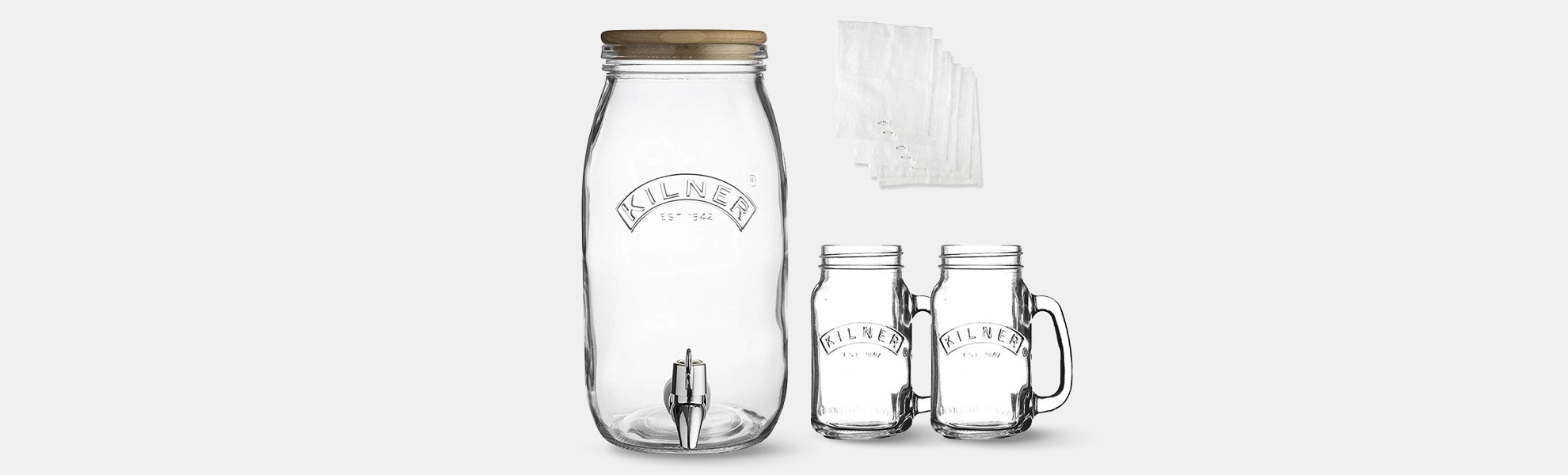 Kilner Homemade Kombucha Drink Set