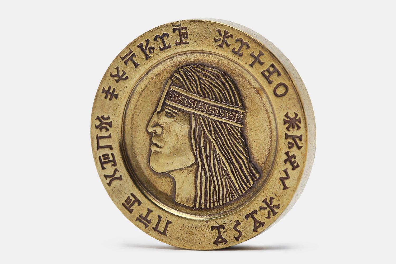King Conan Aquilonian Luna Brass Coin