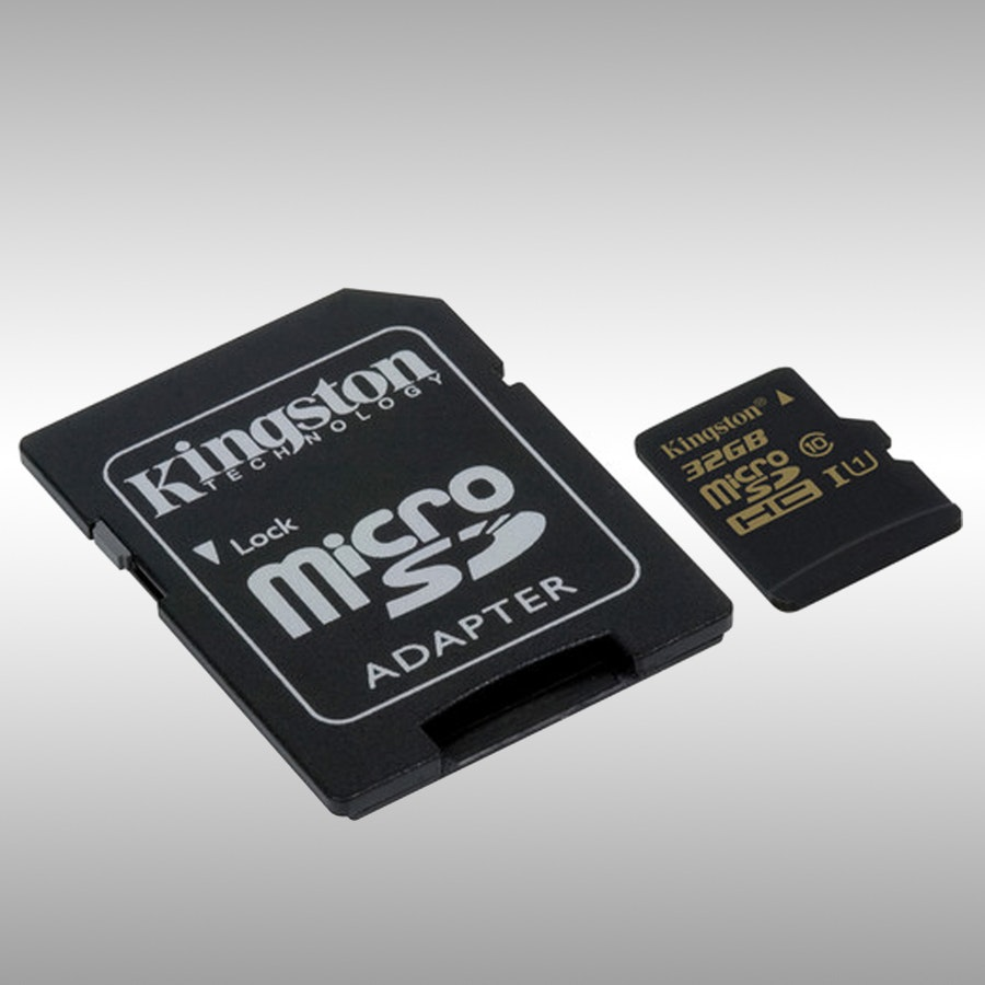 Kingston 32GB/64GB MicroSDXC Class 10 with Adapter