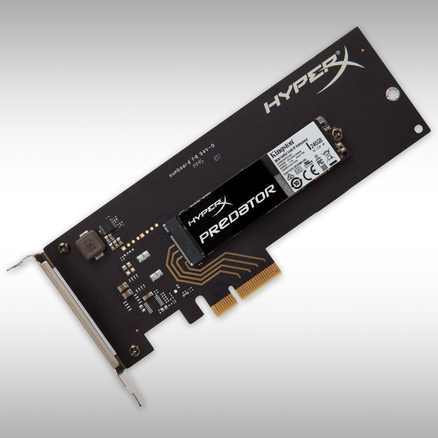 Kingston HyperX Predator 240GB PCIe Gen2 x4 SSD