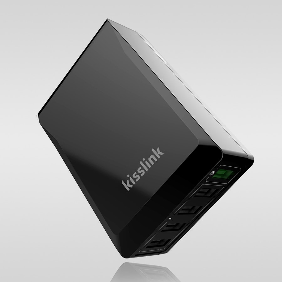 Kisslink 5-Port USB Charger w/Quick Charge 3.0