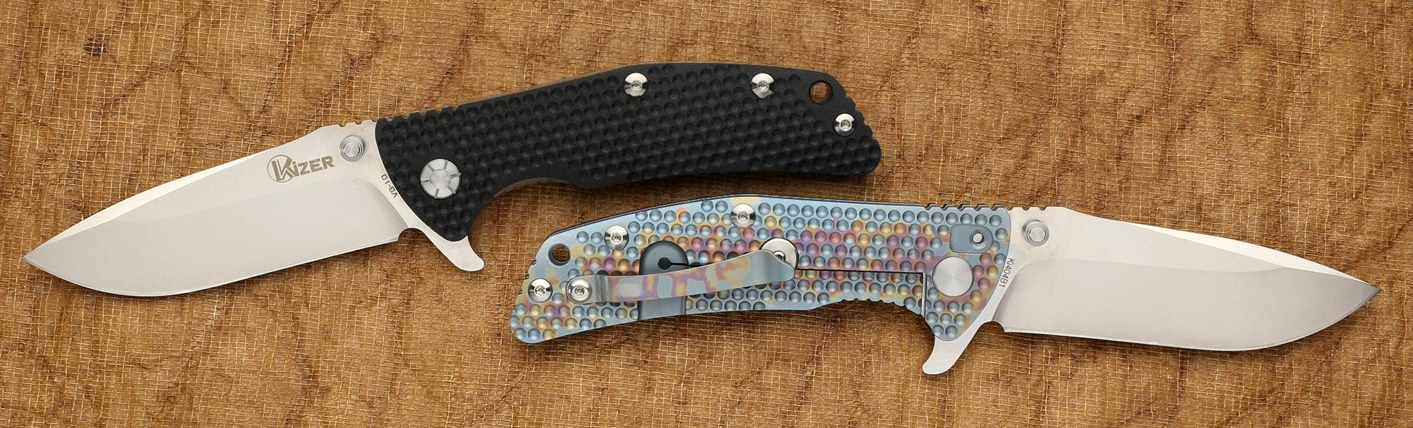 Kizer Ki404B1 & Ki404B2 Anodized Titanium Folder