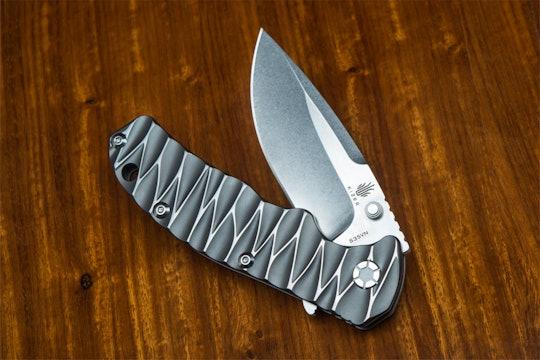 Kizer Ki401B1 Textured Titanium Folding Knife