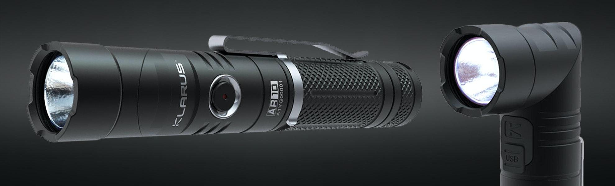 Klarus AR10 Swivel-Head Flashlight w/Magnetic Tail