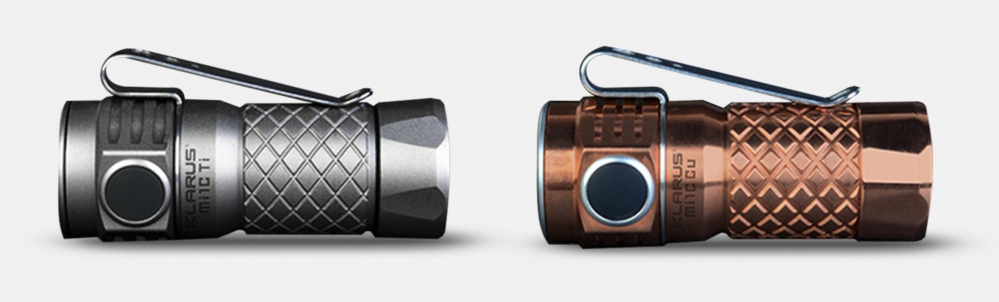 Klarus Mi1C 600-Lumen Copper/Titanium Flashlight