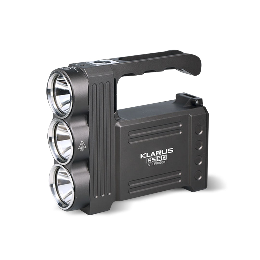 Klarus RS80 Triple-Lamp Portable Spotlight