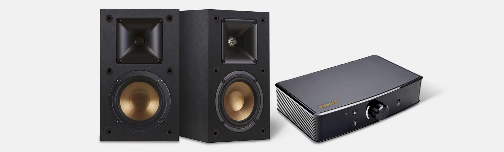 Klipsch R-15M Speakers & Amplifier