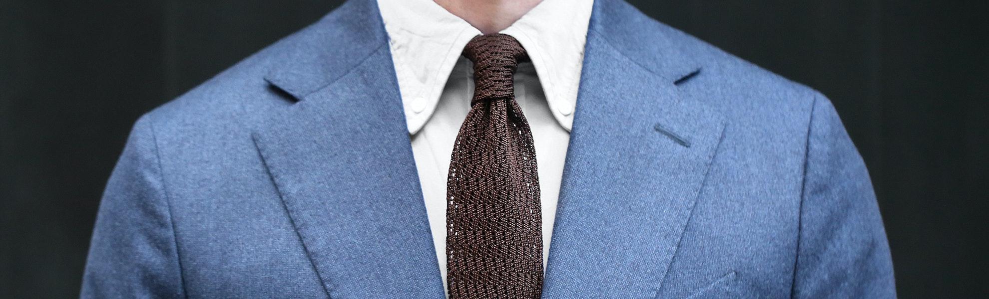 Knottery New York Zigzag Knit Ties