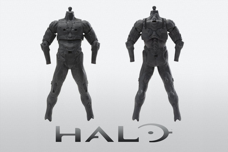 Halo Spartan Tech Suit Basic Body Armor Figure