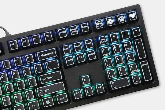 KP ABS Outlined Laser-Etched Keycap Set (145 Keys)