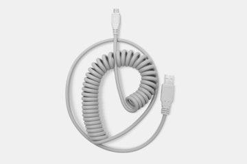 KPrepublic Retro Coiled & Coated USB Cable