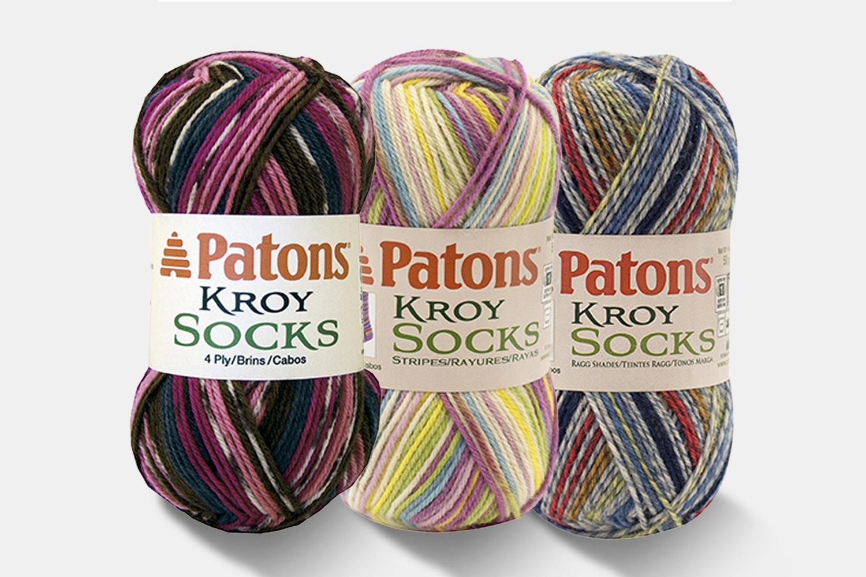 Kroy Socks Yarn Bright Colors by Patons - 3PK