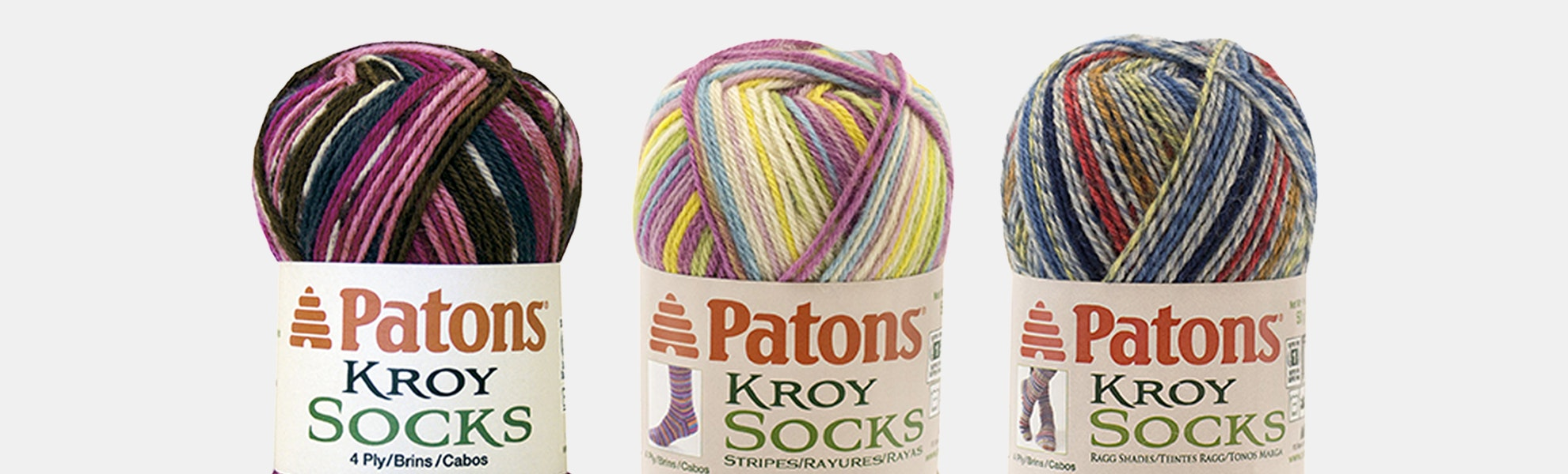 Kroy Socks Yarn Bright Colors by Patons - 3PK