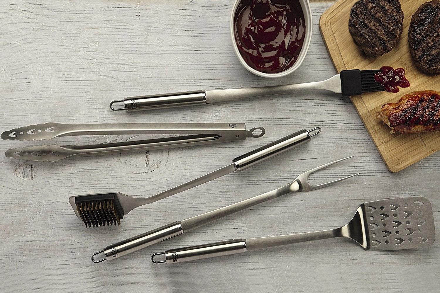 Kuhn Rikon Stainless 5-Piece BBQ Set