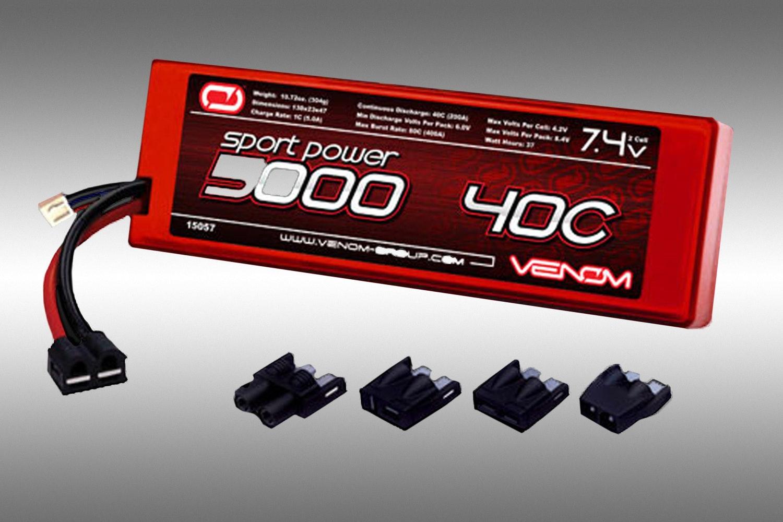 Venom Sport 2S 7.4v 5000mah Lipo Battery (+ $55)