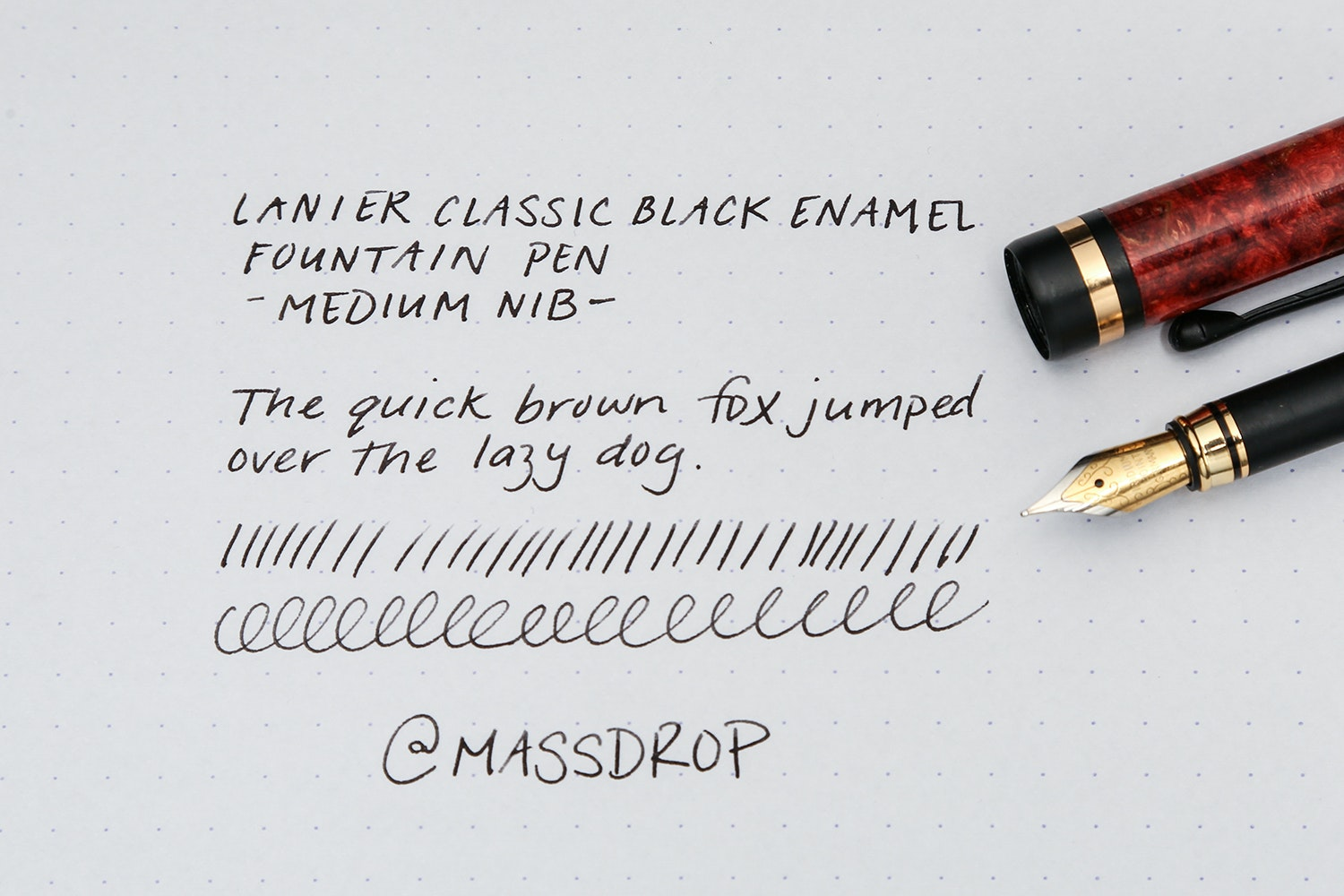 Lanier Classic Black Enamel Fountain Pen