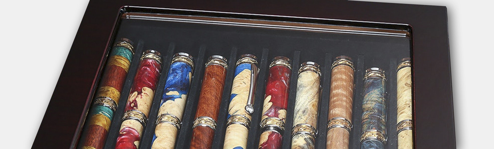 Lanier Piano-Lacquer Display Case for 10 Pens