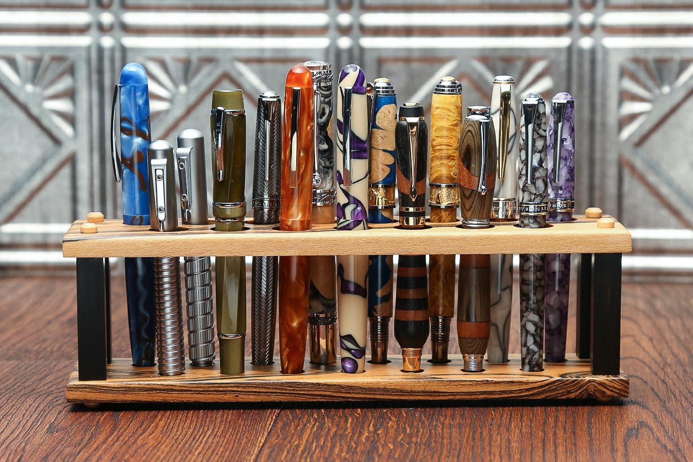 Lanier 15-Pen Upright Wood Stand