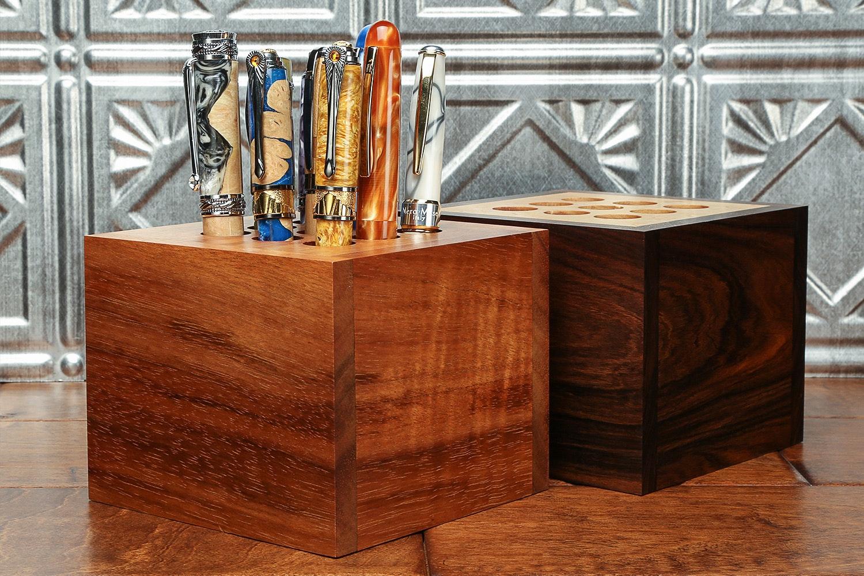 Lanier Wood 9-Pen Cube Stand