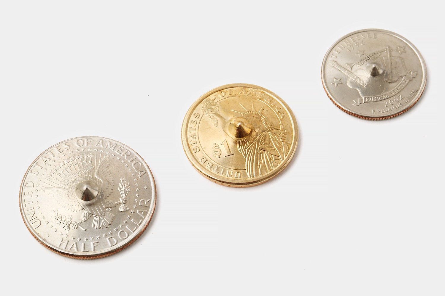 Leather Works Spin Coins